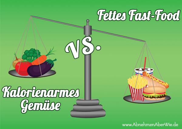 Kalorienarme Gerichte statt Fast-Food