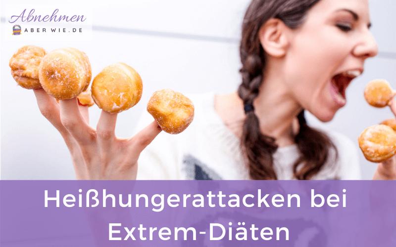 Bei extremen Low Carb Diäten treten häufig Heißhunger-Attacken auf