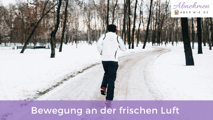 Beim Abnehmen im Winter hilft viel Bewegung an der frischen Luft